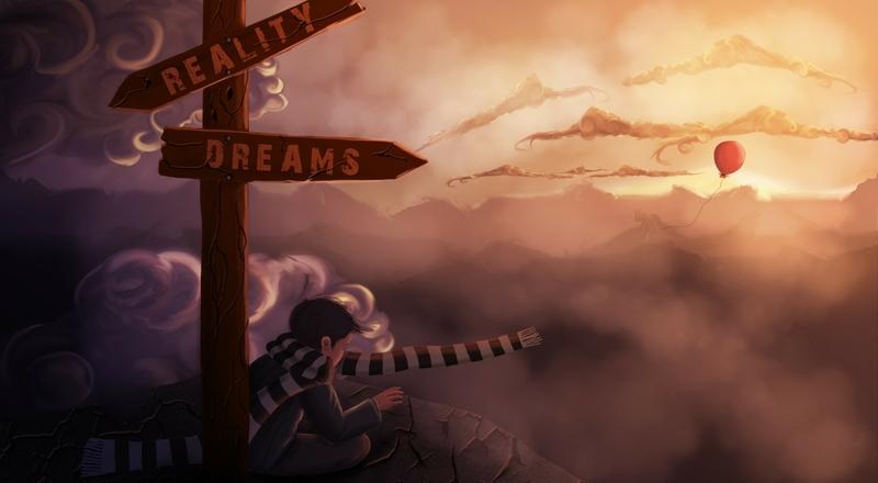 sunset clouds dreams reality digital art artwork balloons sign board children 3000x1653 wallpaper_www.wallpaperhi.com_8